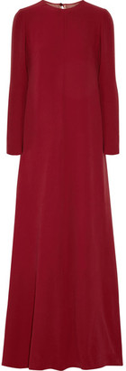 Valentino - Draped Silk-cady Gown - Claret $7,250 thestylecure.com