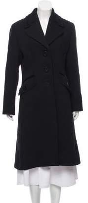 Cinzia Rocca Wool Notch-Lapel Coat