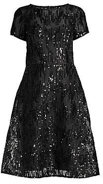896cc1ffb50 Aidan Mattox Women s Sequin Mesh Fit- -Flare Cocktail Dress