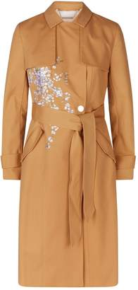 Ted Baker Embroidered Bllue Trench Coat