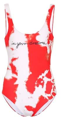 Ganni Exclusive to mytheresa.com – Tie-dye one-piece swimsuit