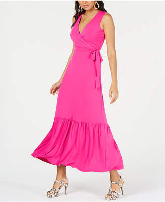 Thalia Sodi Faux-Wrap Ruffled Maxi Dress