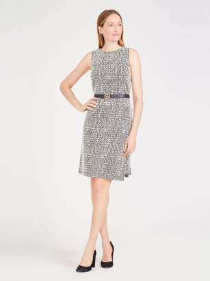 Alyssa Dress in Houndstooth Plaid Jacquard