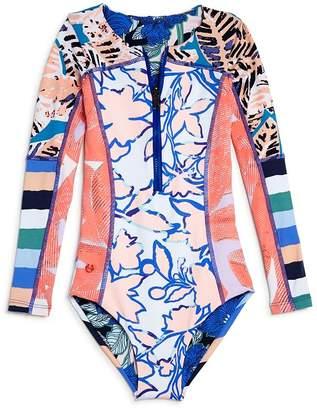65867da301680 Maaji Girls' Ocean Joiness Reversible One-Piece Rash Guard Suit - Little  Kid,