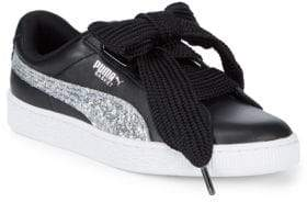 Puma Basket Heart Lace-Up Sneakers