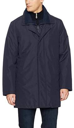 Kenneth Cole New York Men's Radford Top Coat With Wool Blended Bib