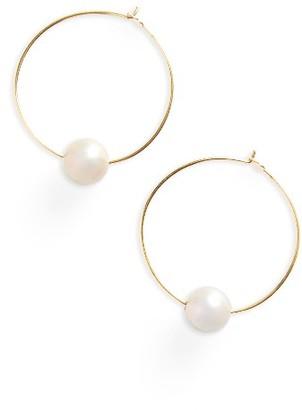 Women's Chan Luu Freshwater Pearl Hoop Earrings $60 thestylecure.com