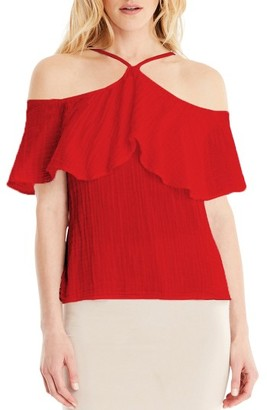 Women's Michael Stars Cold Shoulder Top $108 thestylecure.com