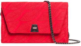Akris Anouk Embroidered Silk Wallet on a Chain