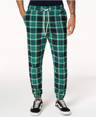 Jaywalker Men's Tartan-Print Jogger Pants