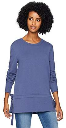 Daily Ritual Women's Terry Cotton and Modal Side-Tie Sweatshirt