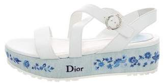 Christian Dior Prairie Denim Wedges