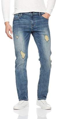 Nothing but Denim Men's Slim Fit Ripped Denim Pants Destroyed Jean