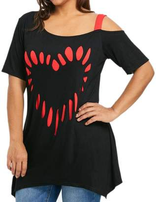 8121321628e E-SCENERY Women Blouse and T-Shirt 2019 New Women s Plus Size Blouse