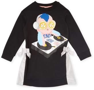Fendi Sweatshirt Bow Dress