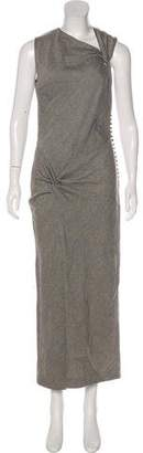 John Galliano Wool Maxi Dress