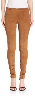 Polo Ralph Lauren Suede Leggings $998 thestylecure.com