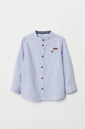 H&M Grandad shirt - Blue