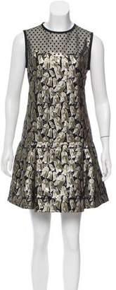 Victoria Beckham Victoria, Metallic A-Line Dress