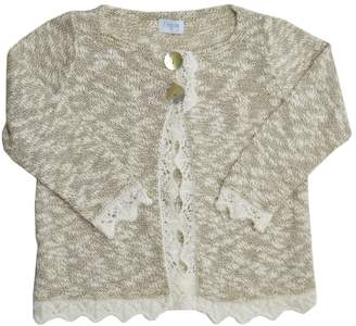 Foque Gold & White Knitted Top