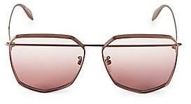 Alexander McQueen Women's 61MM Brow Bar Sunglasses