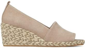 Donald J Pliner CHRISS, Kid Suede Peep-Toe Wedge