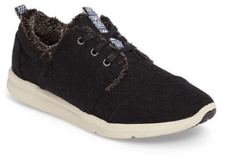 Women's Toms Faux Shearling Del Ray Sneaker $88.95 thestylecure.com