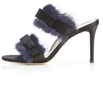 Marion Parke Lola | Fur Stiletto Slide Sandal