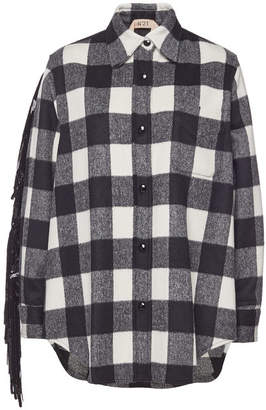 N°21 N21 Flannel Shirt with Sequinned Fringes