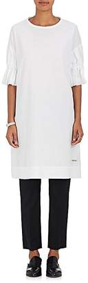Yohji Yamamoto Regulation Women's Smocked-Sleeve Cotton Tunic Shirt