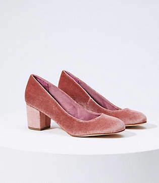 LOFT Velvet Block Heel