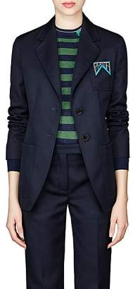 Prada Women's Twill Two-Button Blazer - Navy