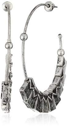 Steve Madden Metal Tribal Drop Earrings