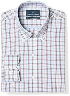aadec915 Buttoned Down Men's Slim Fit Cutaway-Collar Pattern Non-Iron Dress Shirt