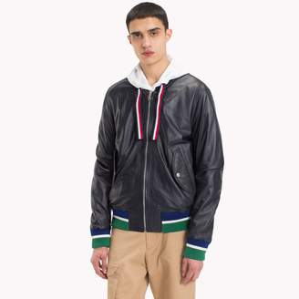 Tommy Hilfiger Reversible Leather Flight Jacket