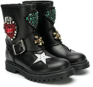 Andrea Montelpare embellished ankle boots