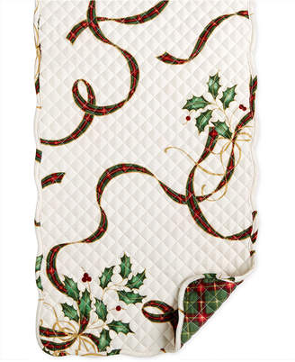 "Lenox Holiday Nouveau Quilt Reversible 70"" Runner"