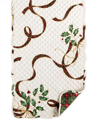 "Lenox Closeout! Holiday Nouveau Quilt Reversible 70"" Runner"