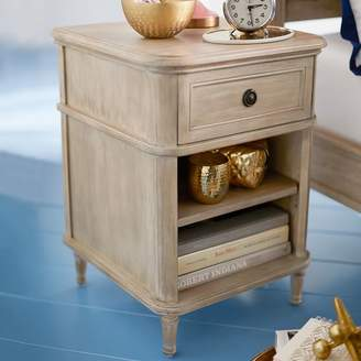 Pottery Barn Teen Colette Bedside Table, Water-Based Washed Sand