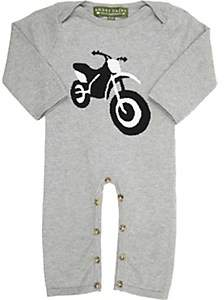 Amber Hagen Infants' Motorcycle Coverall-Gray