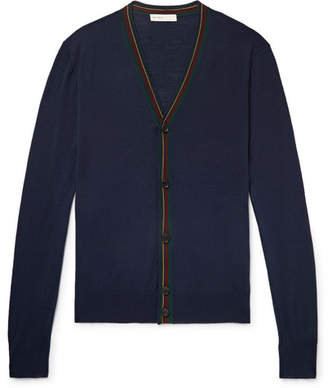 Etro Stripe-Trimmed Wool Cardigan
