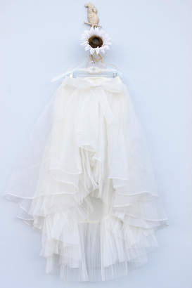 Gracia High-Low Organza Skirt
