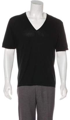 Gucci Short Sleeve V-Neck Sweater