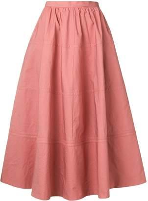 Bottega Veneta flared A-line skirt