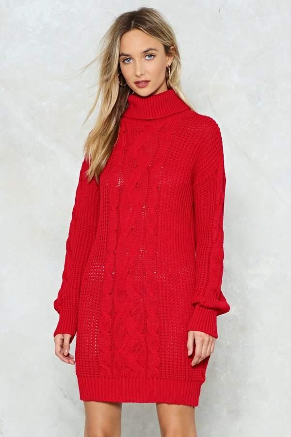 nastygal Big News Sweater Dress