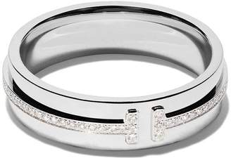 Tiffany & Co. & Co 18kt white gold T two diamond narrow ring