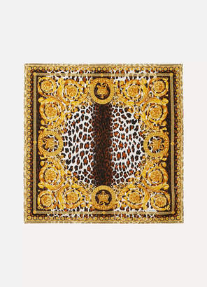 Versace Printed Silk-twill Scarf - Yellow
