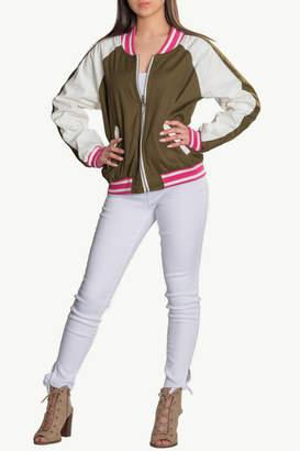 Katherine Barclay Reversible Floral Bomber Jacket