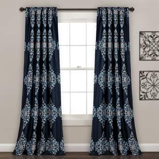 "Lush Decor 2-pack Keya Medallion Room Darkening Window Curtains - 52"" x 84"""