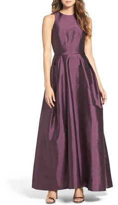 Women's Monique Lhuillier Bridesmaids Cross Back Taffeta Gown $298 thestylecure.com